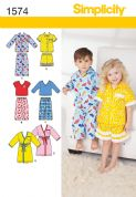 1574 Simplicity Pattern: Toddlers' Loungewear